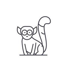 lemur line icon concept lemur linear vector image