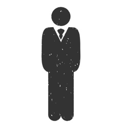Manager Icon Rubber Stamp vector
