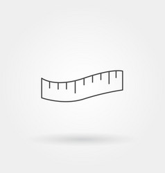 Measure single isolated icon with modern line vector