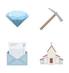mine mail and other web icon in cartoon style vector image