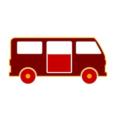 Minibus symbol icon on white vector image