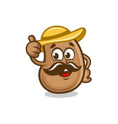modern mascot potato chips logo vector image