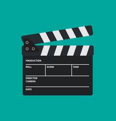 Movie slate or clapper board for movie cinema vector