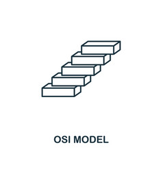 Osi model icon thin line style industry 40 icons vector