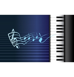 Piano music vector