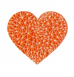 Polyheartsep vector image