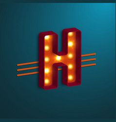 retro style letter h vector image