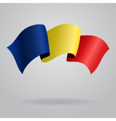 Romanian waving Flag vector image