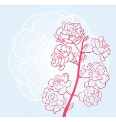 Sakura twig vector