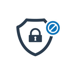 Security icon with not allowed sign vector