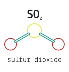 SO2 sulfur dioxide molecule vector