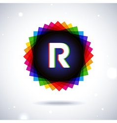 Spectrum logo icon Letter R vector image