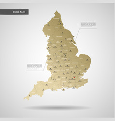 Stylized england map vector