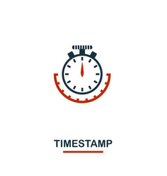 timestamp icon creative two colors design from vector image
