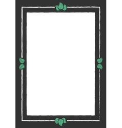 Vintage frame with leaves vector