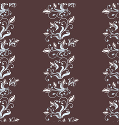 vintage seamless pattern with floral elements vector image