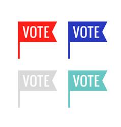 vote sticker flag icon government vector image
