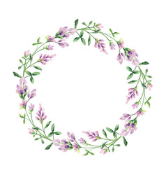 Watercolor hand painted wreaths vector