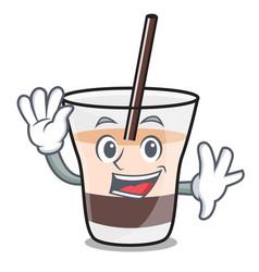 waving white russian character cartoon vector image