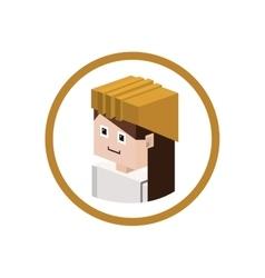 Worker isometric avatar vector