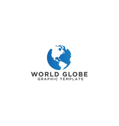world globe graphic template vector image