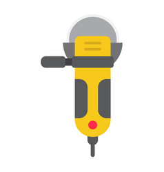 angle grinder flat icon build and repair cutter vector image