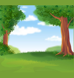 Green landscape in the summer sunny day vector