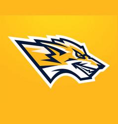 logo mascot aggressive fox vector image