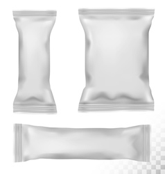 Polypropylene package on transparent background vector image