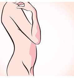 abstract naked women stock vector image