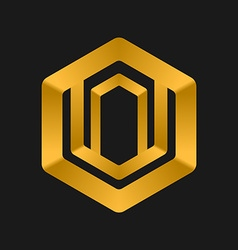 Cube logo templates abstract logotype symbol vector