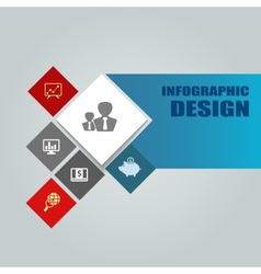 infographic or web design template vector image vector image