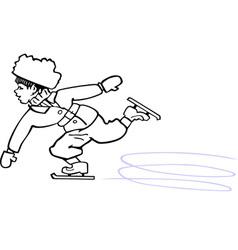Skating boy vector image vector image