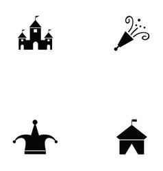 circus icon set vector image