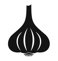 Garlic icon simple style vector
