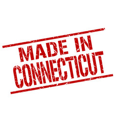 made in connecticut stamp vector image vector image