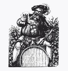 vintage barrel engraving ephemeral vector image