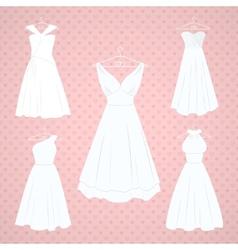 Wedding dresses vector image vector image