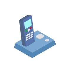 Wireless telephone icon isometric 3d style vector image vector image