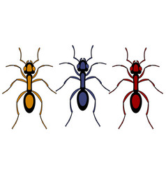 ant insect set vector image vector image