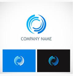 circle loop abstract technology logo vector image