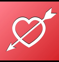 Heart Arrow Love vector image vector image