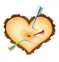 heart shape design element vector image vector image