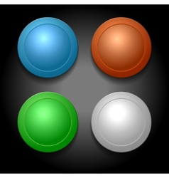 Set of Different Color Blank Buttons Template vector image vector image