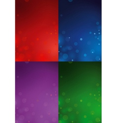 4 christmas backgrounds vector