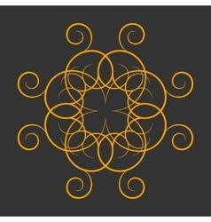 A circular ornament vector
