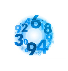 abstract circle numbers blue vector image