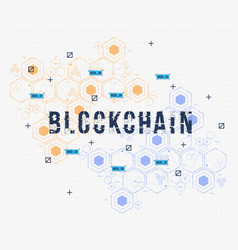 abstract circuit networking blockchain concept for vector image