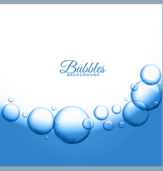 Abstract water or soap bubbles background vector