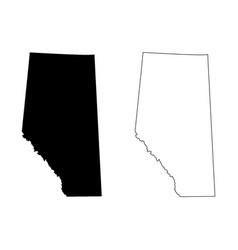 Alberta province and territory canada map vector